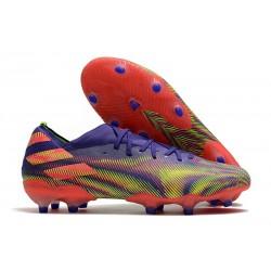Bota de fútbol adidas Nemeziz 19.1 FG - Tinta Energia Rosa Senal Verde