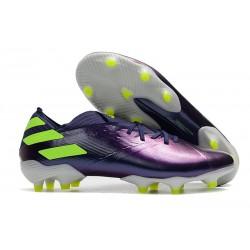 Bota de fútbol adidas Nemeziz 19.1 FG - Violeta Verde