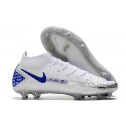 Bota Nike Phantom GT Elite Dynamic Fit DF FG Blanco Azul