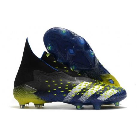 Botas de fútbol adidas PREDATOR FREAK + FG Azul Negro Blanco Amarillo Solar