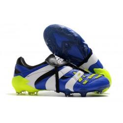 Botas de fútbol adidas Predator Accelerator DB FG- Azul Blanco Amarillo