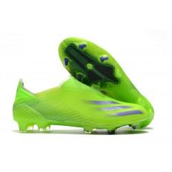 adidas X Ghosted + FG Botas Verde Tinta Energía