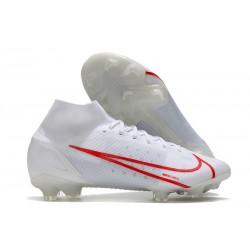 Nike Botas Mercurial Superfly VIII Elite FG Blanco Rojo