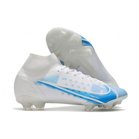 Zapatos Nike Mercurial Superfly 8 Elite FG Blanco Azul
