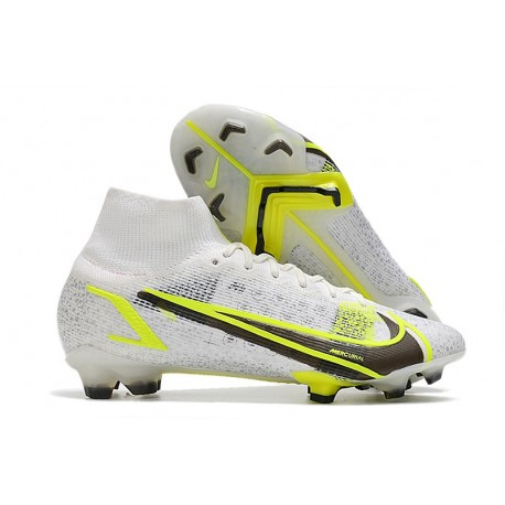 Zapatos Nike Mercurial Superfly 8 Elite FG Blanco Negro Metálico Plateado
