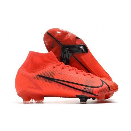 Nike Botas Mercurial Superfly VIII Elite FG Rojo Negro
