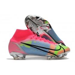 Zapatos Nike Mercurial Superfly 8 Elite FG Rosa Azul Verde