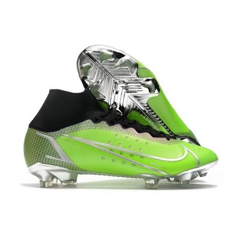Nike Botas Mercurial Superfly VIII Elite FG Verde Plata