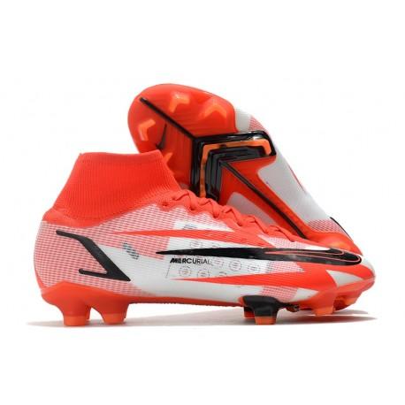 Nike Superfly 8 Ronaldo CR7 Elite FG Chile Rojo Negro Blanco Naranja