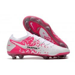 Bota de Futbol Nike Phantom GT Elite FG Blanco Rosa
