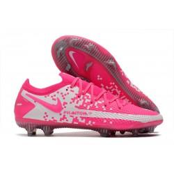 Bota de Futbol Nike Phantom GT Elite FG Rosa Blanco