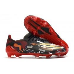 Zapatos adidas X Ghosted.1 FG Negro Rojo Oro