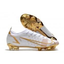 Zapatillas Nike Mercurial Vapor XIV Elite FG Blanco Oro