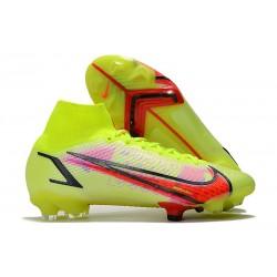 Zapatos Nike Mercurial Superfly 8 Elite FG Volt Carmesí Negro