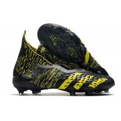 Botas de fútbol adidas PREDATOR FREAK + FG Negro Amarillo