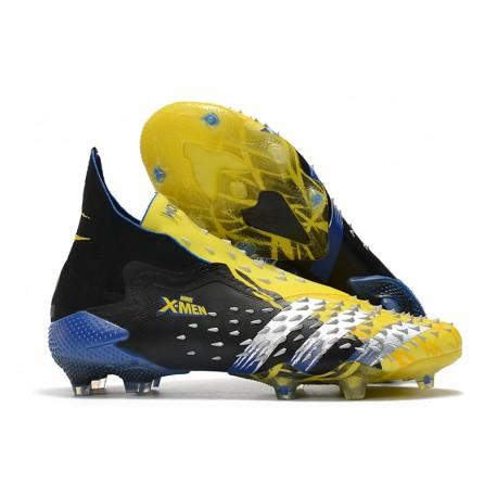 adidas PREDATOR FREAK + FG Amarillo Fluor Plateado Metálico Negro