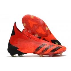 Botas de fútbol adidas PREDATOR FREAK + FG Rojo Negro Rojo Solar