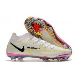 Nike Phantom Generative Texture II Elite DF FG Blanco Negro Carmesí Rosa