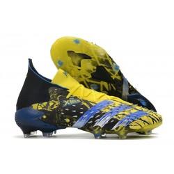 adidas Zapatillas Predator Freak.1 FG X-Men Wolverine - Amarillo Fluor Plateado Metálico Negroa