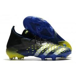 adidas Zapatillas Predator Freak.1 FG Azul Negro Blanco Amarillo Solar