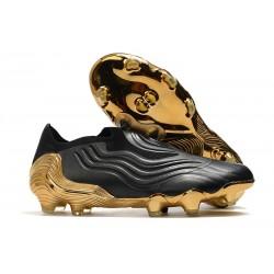 adidas Botas de fútbol Copa Sense+ FG Negro Blanco Dorado Metallic