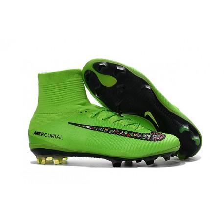 cb509f9eda488 Botas Fútbol Nike Mercurial Superfly V FG para Hombre Verde Negro