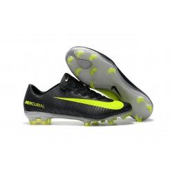 Nike Botas de Fútbol de Hombre Mercurial Vapor XI CR7 FG - Negro Amarillo