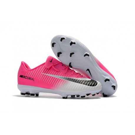 check out 52ed0 a65be Nike Botas de Fútbol de Hombre Mercurial Vapor XI FG -Rosa Blanco