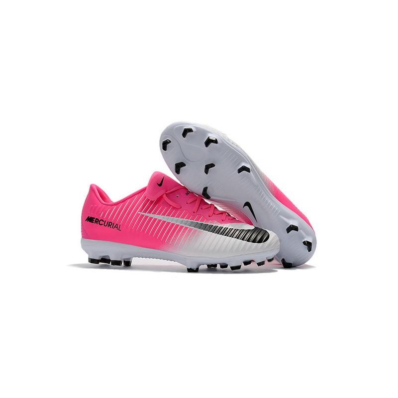 Series de tiempo Estación absorción  Nike Botas de Fútbol de Hombre Mercurial Vapor XI FG -Rosa Blanco