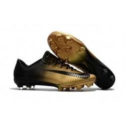 Nike Botas de Fútbol de Hombre Mercurial Vapor XI FG -Oro Negro