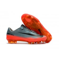Nike Mercurial Vapor 11 FG Nuevas Zapatillas Botas -Gris Naranja