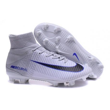 6bb8374480a Botas Fútbol Nike Mercurial Superfly V FG para Hombre Blanco Negro