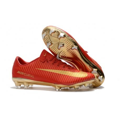 Zapatos de Futbol Nike Mercurial Vapor XI CR7 FG - Rojo Oro bc1cb5e902fd4