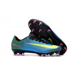 Nike Mercurial Vapor 11 FG Botas de Fútbol Hombre Azul Amarillo