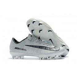 Nike Mercurial Vapor 11 CR7 FG Botas de Fútbol Ronaldo Blanco Negro
