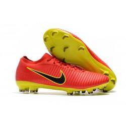 Nike Mercurial Vapor Flyknit Ultra FG Zapatillas de Ronaldo - Rojo Amarillo
