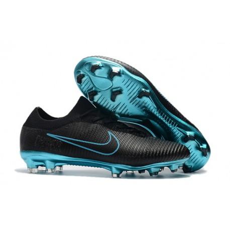 Nike Mercurial Vapor Flyknit Ultra FG Zapatillas Negro Azul Ronaldo ... f6f6e2818db3d