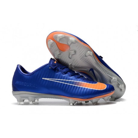 mentiroso Reciclar seguramente  Nike Botas de Fútbol Mercurial Vapor XI FG ACC - Azul Naranja