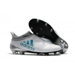 Botas de fútbol adidas X 17+ Purespeed FG Blanco Azul