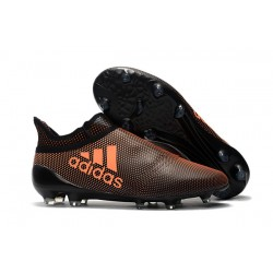 Botas de fútbol adidas X 17+ Purespeed FG Marrón