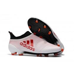 adidas X 17+ Purespeed FG Zapatillas de Futbol - Blanco Rojo