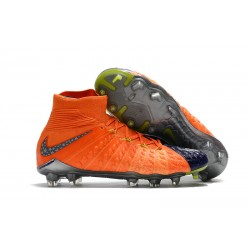 Nike Hypervenom Phantom 3 DF Fg - Zapatillas de fútbol Hombre - Naranja Azul