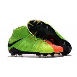 Nike Hypervenom Phantom 3 DF Fg - Zapatillas de fútbol Hombre - Verde Naranja