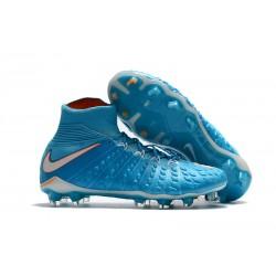 Nike Bota de Futbol Hypervenom Phantom III DF FG - Azul Blanco