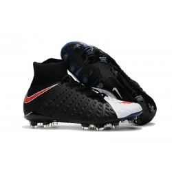 Nike Hypervenom Phantom 3 Dynamic Fit FG ACC Zapatos - Negro Blanco