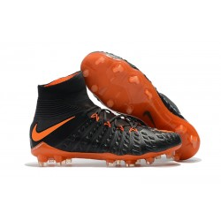 Nike Hypervenom Phantom III DF FG Botas de Fútbol - Negro Naranja
