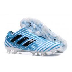 Botas Adidas Nemeziz Messi 17+ 360 Agility FG - Azul Negro