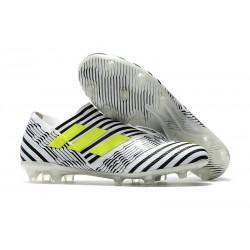 Botas Adidas Nemeziz Messi 17+ 360 Agility FG - Blanco Negro Amarillo