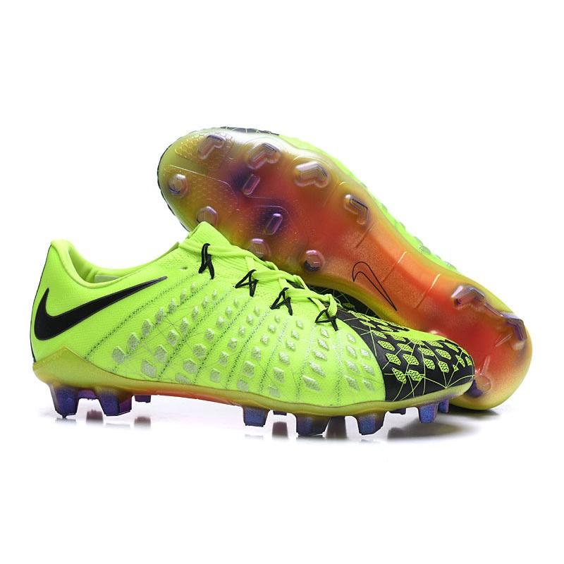 En el nombre pueblo Terminal  Nike Nuevas Tacos de Futbol Hypervenom Phantom 3 FG - Verde Negro