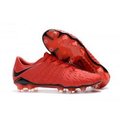 Nike Hypervenom Phantom III FG Zapatillas de Futbol - Rojo Negro